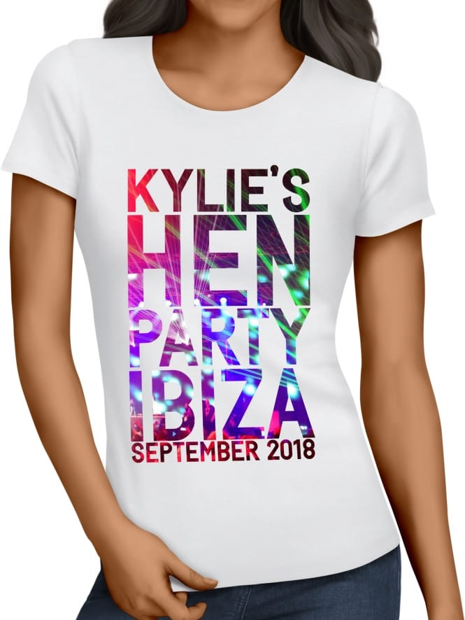 Hen Party Superstore Clubbing Personalised Hen Party T-Shirts
