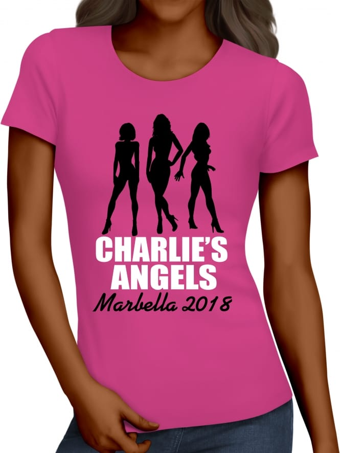 Hen Party Superstore Charlie's Angels Personalised Hen Party T-Shirts
