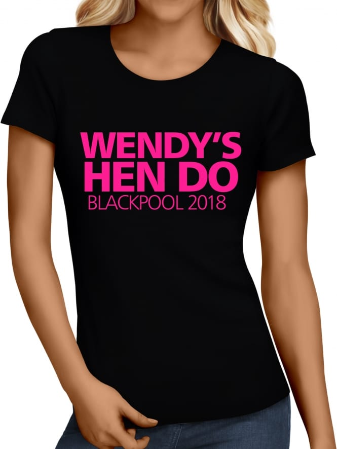 Hen Party Superstore Bold Personalised Hen Party T-Shirts
