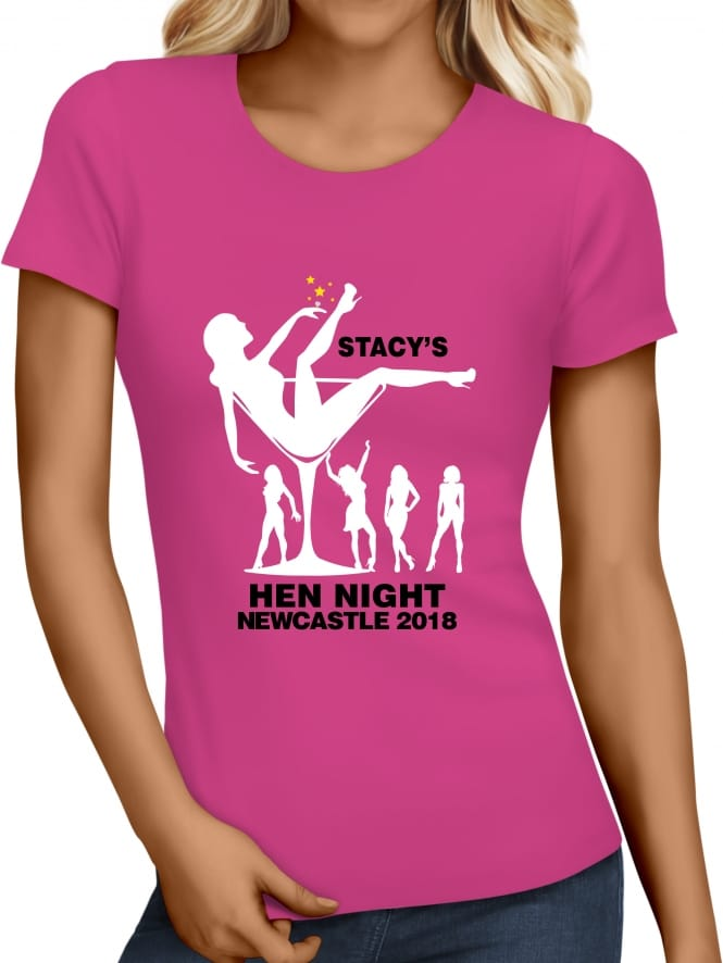Hen Party Superstore Friends In A Glass Personalised Hen Party T-Shirts