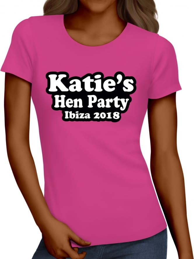 Hen Party Superstore Bubble Personalised Hen Night T-Shirts