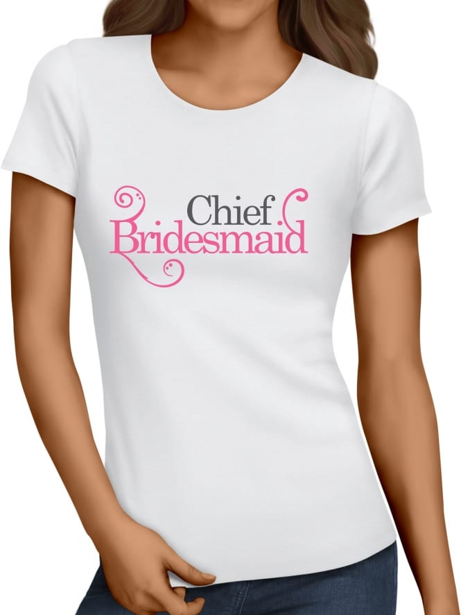 Hen Party Superstore Swirly Style 'Chief Bridesmaid' Hen Party T-Shirts