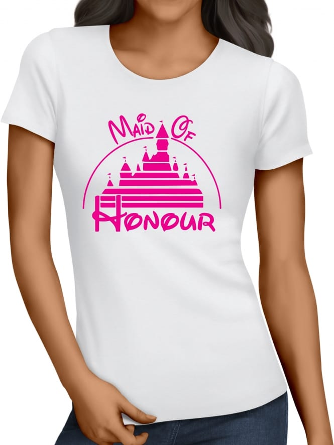 Hen Party Superstore Magical Princess 'Maid of Honour' Personalised Hen Party T-Shirts