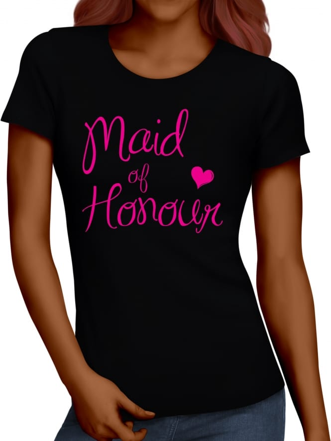 Hen Party Superstore Elegant Maid Of Honour Hen Party T-Shirts