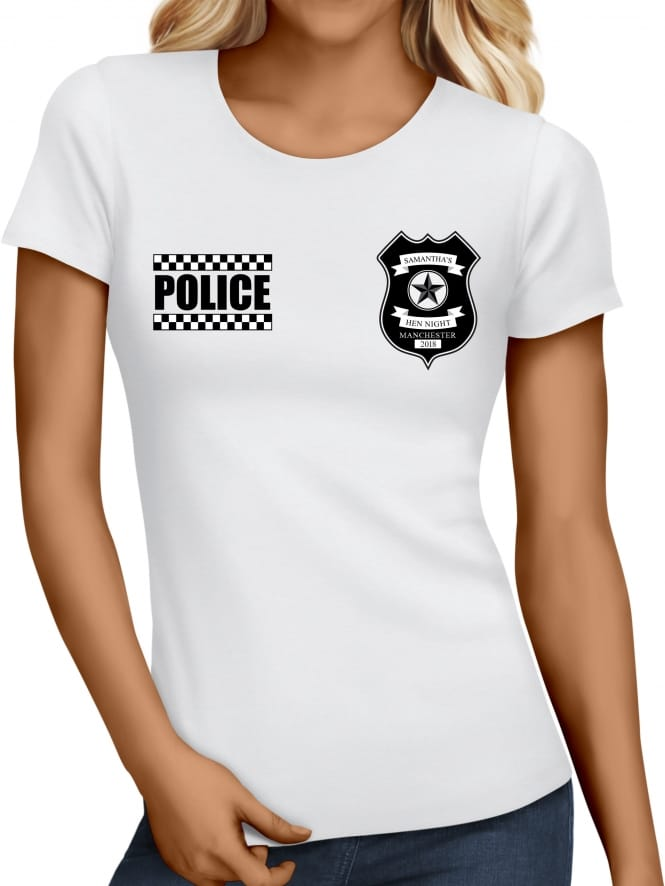 Hen Party Superstore Police Personalised Hen Party T-Shirt