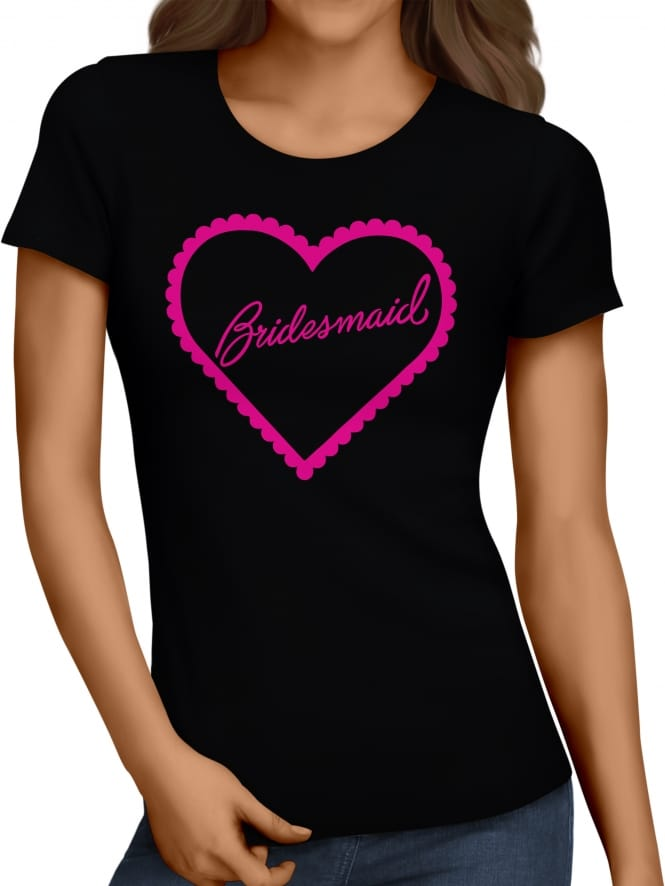 Hen Party Superstore Frilly Hearts 'Bridesmaid' Hen Party T-Shirts