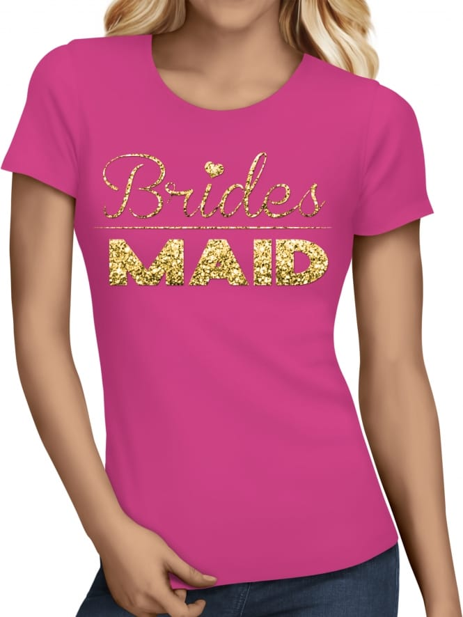 Hen Party Superstore Glitter Bridesmaid Hen Party T-Shirts