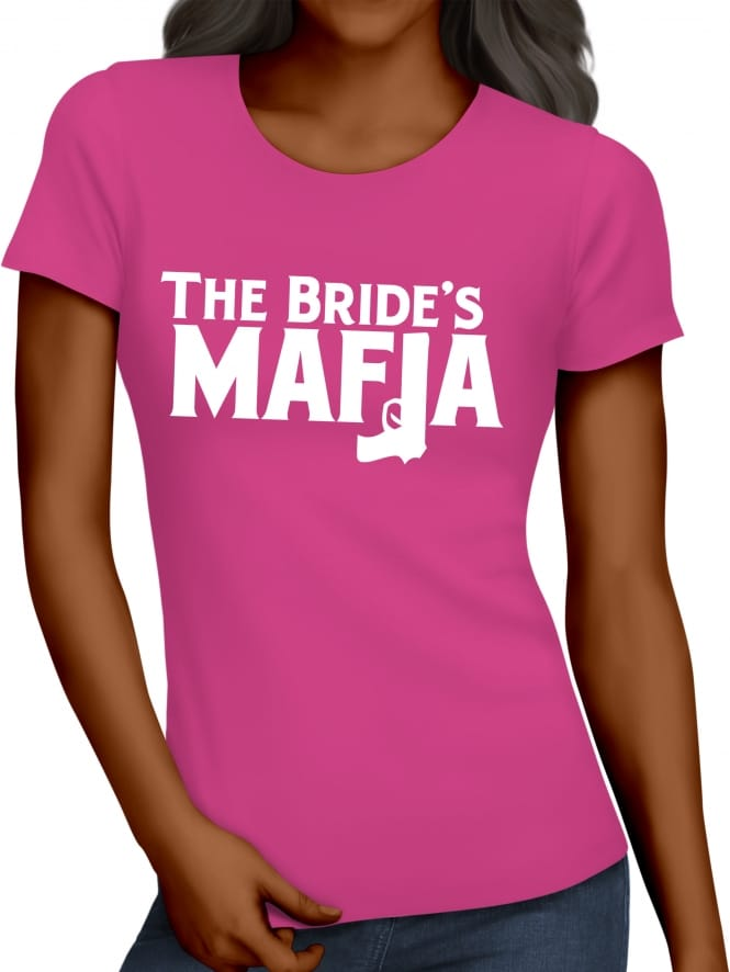 Hen Party Superstore Bride's Mafia Gangster Hen Party T-Shirts