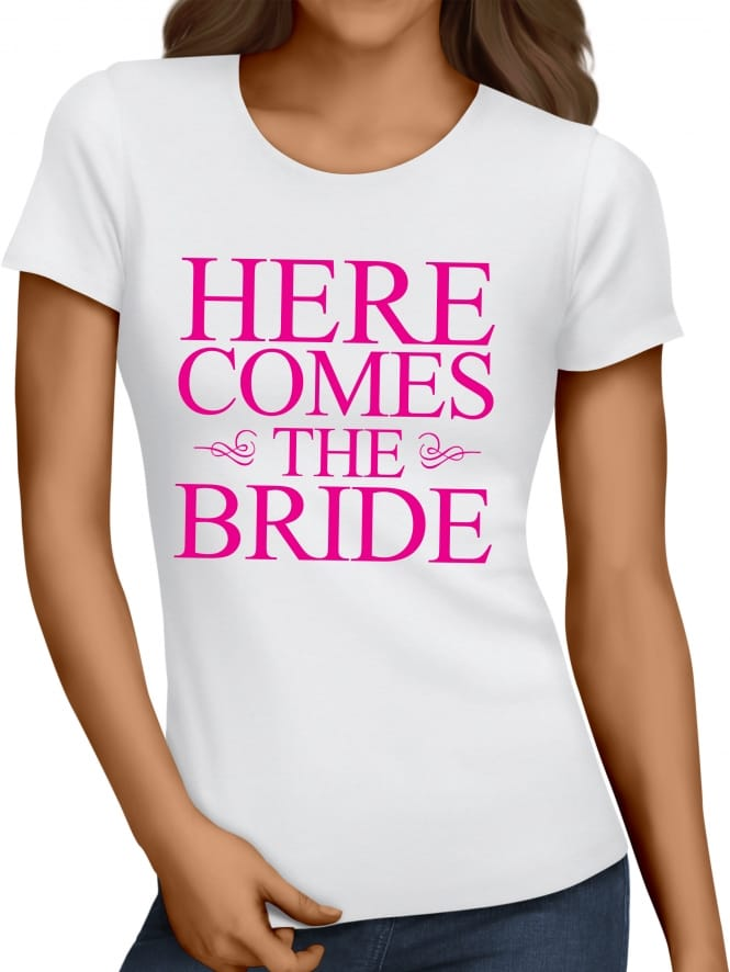 Hen Party Superstore Classic Here Comes The Bride T-Shirts