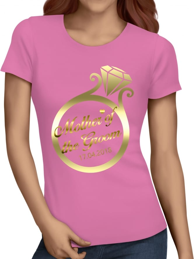 Hen Party Superstore Gold Ring Mother Of The Groom T-Shirts