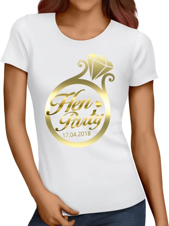 Hen Party Superstore Gold Ring Hen Party T-Shirts