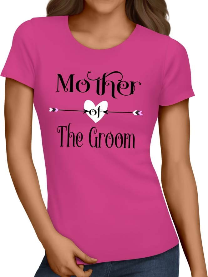 Hen Party Superstore Love Arrow Mother Of The Groom T-Shirts