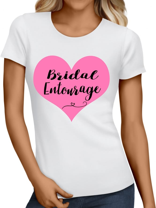 Hen Party Superstore Heart Bridal Entourage T-Shirts