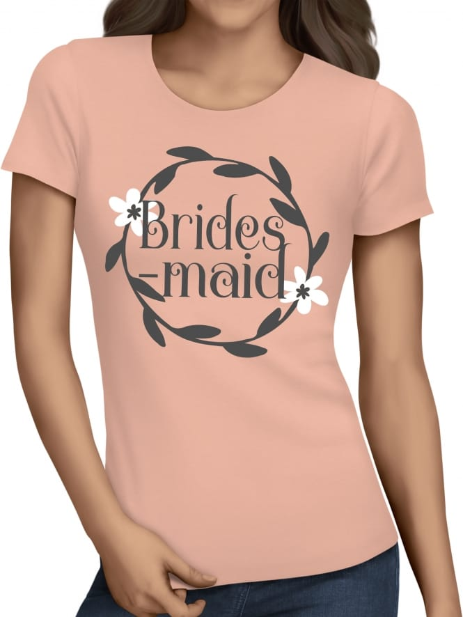 Hen Party Superstore Wreath Design Bridesmaid T-Shirts