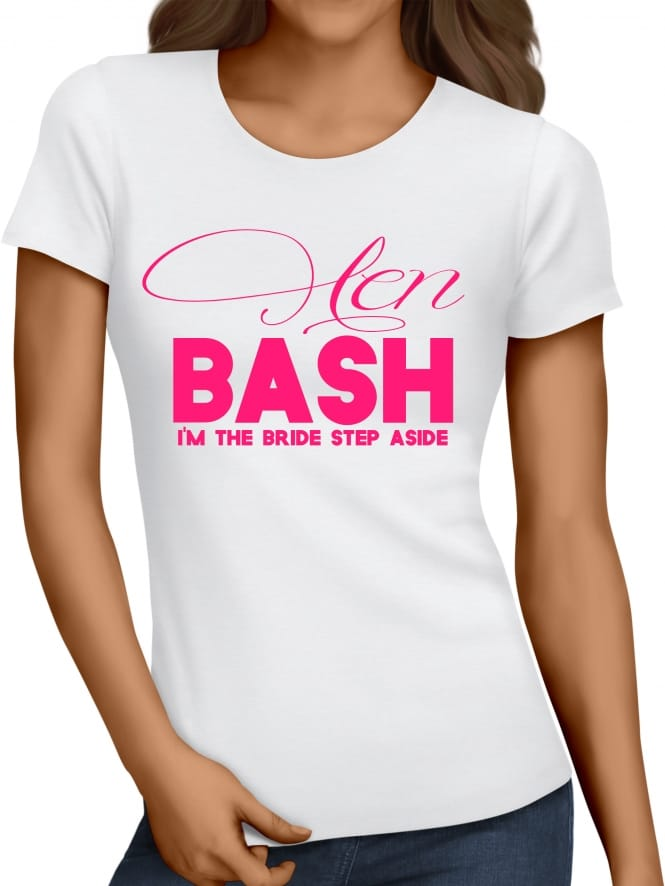 Hen Party Superstore Hen Bash Personalised Bride T-Shirt