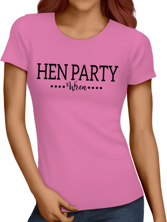 Hen Party Superstore Dual Font Hen Party T-Shirts