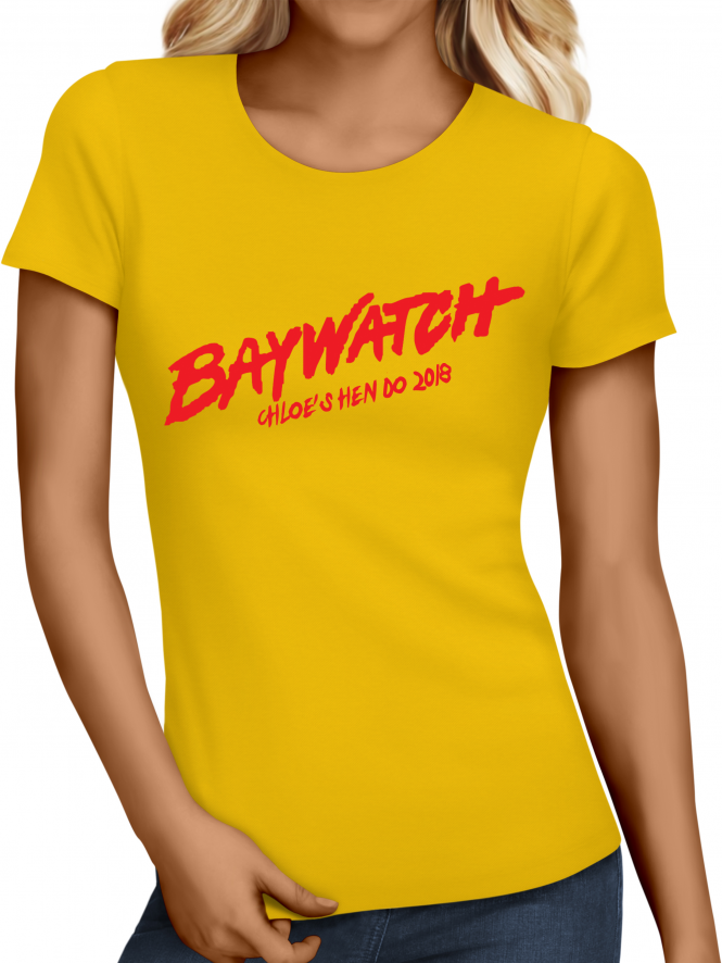 Hen Party Superstore Beach Watch Hen Party Holiday T-Shirts