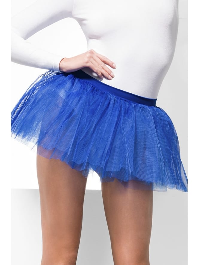 Blue Cheerleader Fancy Dress Tutu