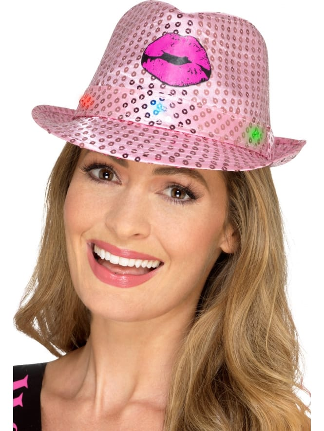 Light-Up Sequin Hen Party Trilby Hat