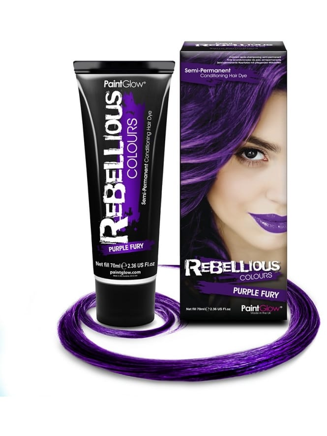 Semi-Permanent Hair Dye 70ml Purple