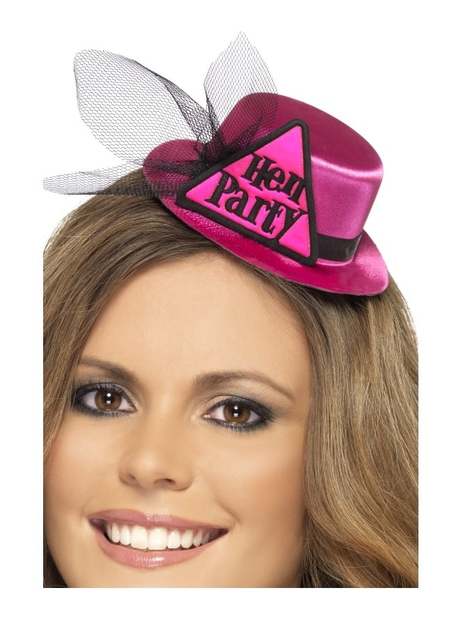 Pink Mini Hen Party Top Hat