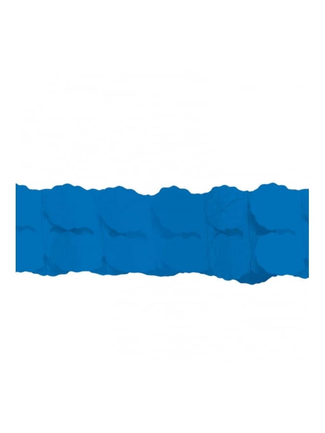 3.65m Royal Blue Paper Garland