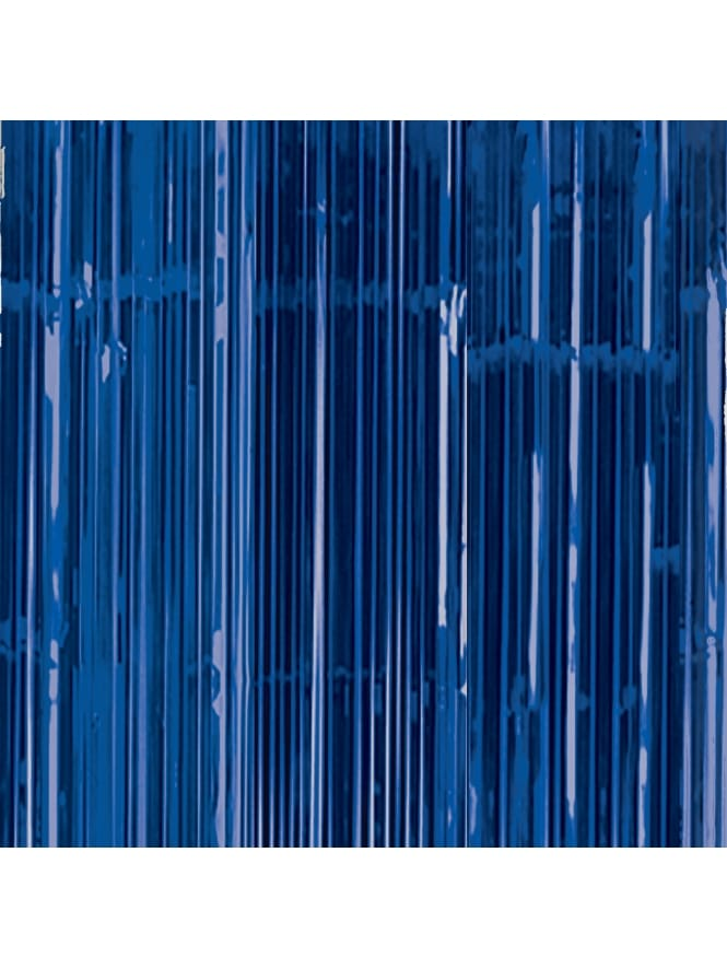Royal Blue Door Fringe Curtain