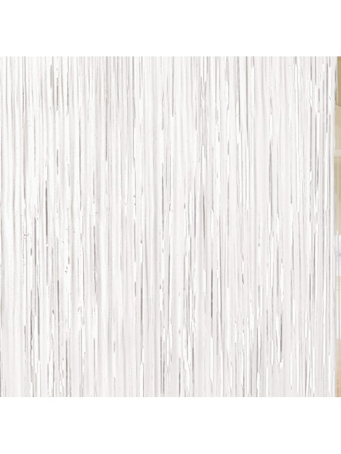 White Door Fringe Curtain