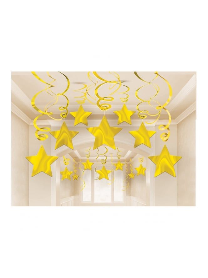 Swirl Party Pack Shooting Stars Gold