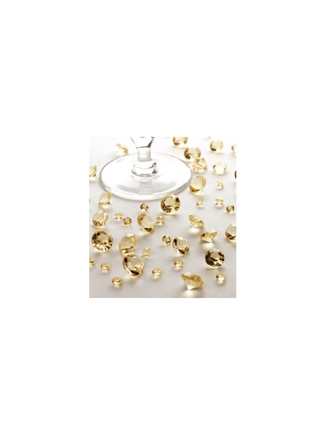 Gold Glittering Table Crystals