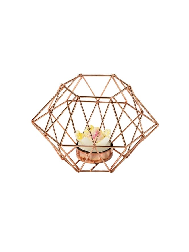 Rose Gold Tea Light Holder