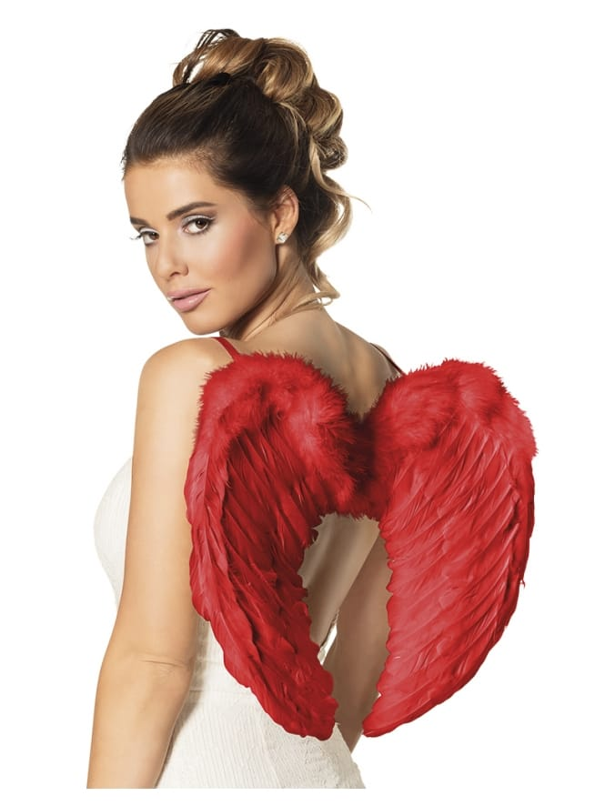 Scarlet Red Feathered Wings