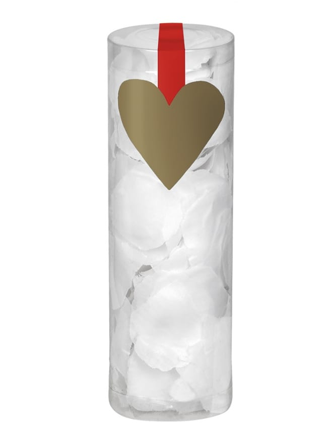 Tube of White Rose Petals