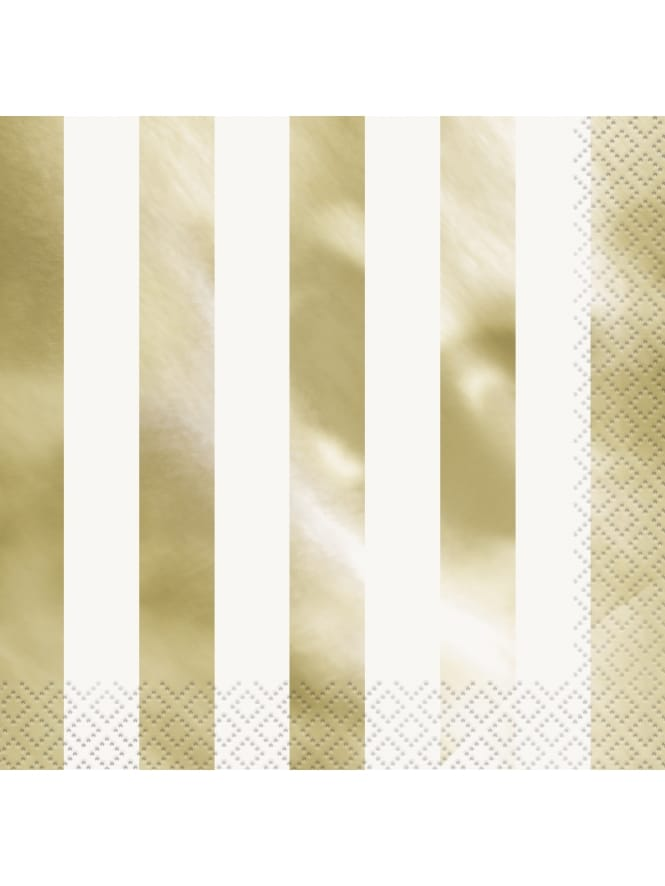 Gold and White Striped Napkins