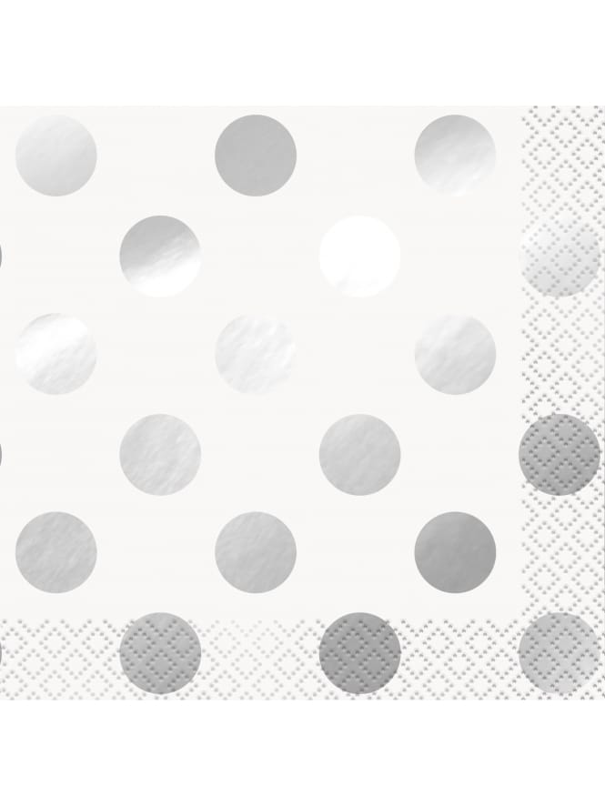 Silver and White Spotted Napkins