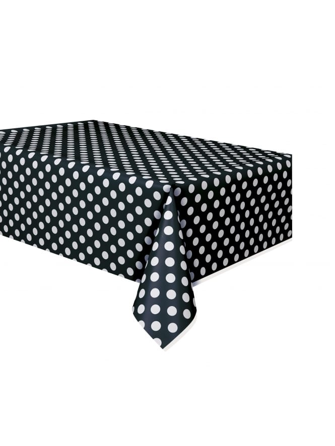 Black with White Spots Table Cover