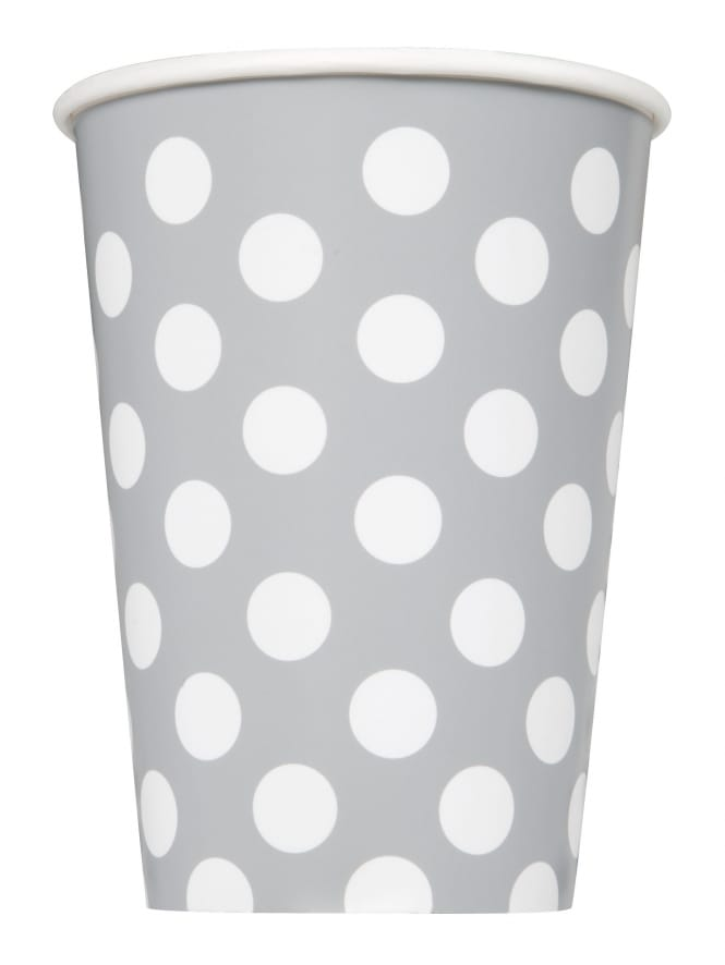 Silver Polka Dot Paper Cups