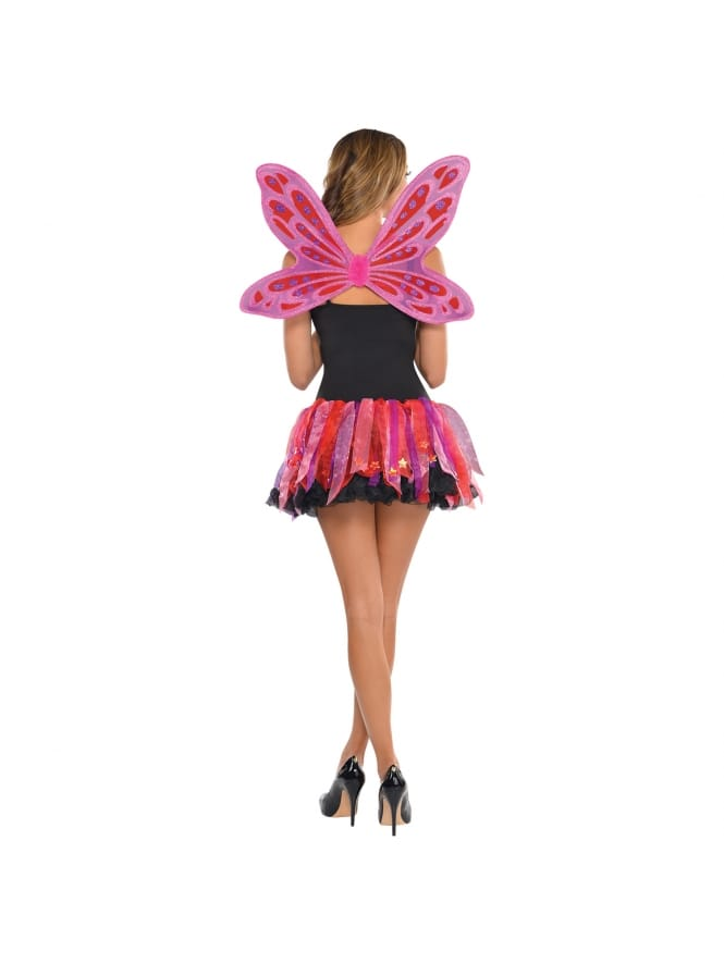 Pink Pixie Wings & Skirt Costume Kit