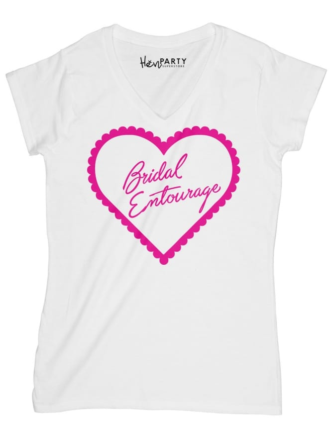 Hen Party Superstore Frilly Hearts Bridal Entourage Hen Party T-Shirts
