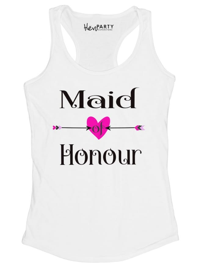 Hen Party Superstore Love Arrow Maid Of Honour T-Shirts