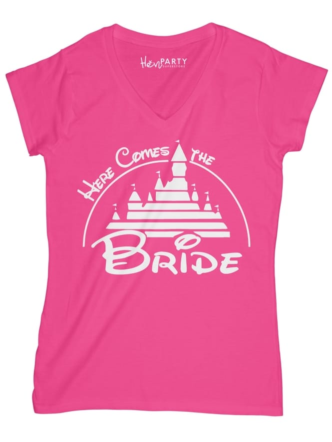 Hen Party Superstore Magical Princess 'Here Comes the Bride' Hen Party T-shirts
