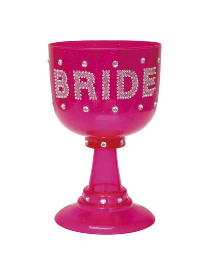 Pink Bride To Be Large Goblet Glass