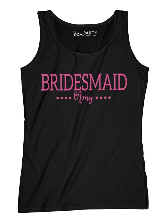 Hen Party Superstore Dual Font Bridesmaid Hen Party T-Shirts