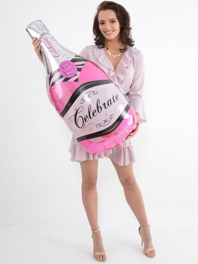 Extra Large Champagne Bottle Hen Party Foil Balloon