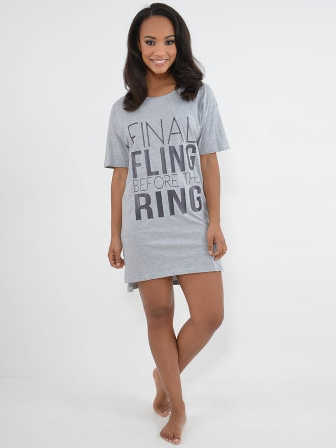 Hen Party Superstore Final Fling Nightshirt Grey