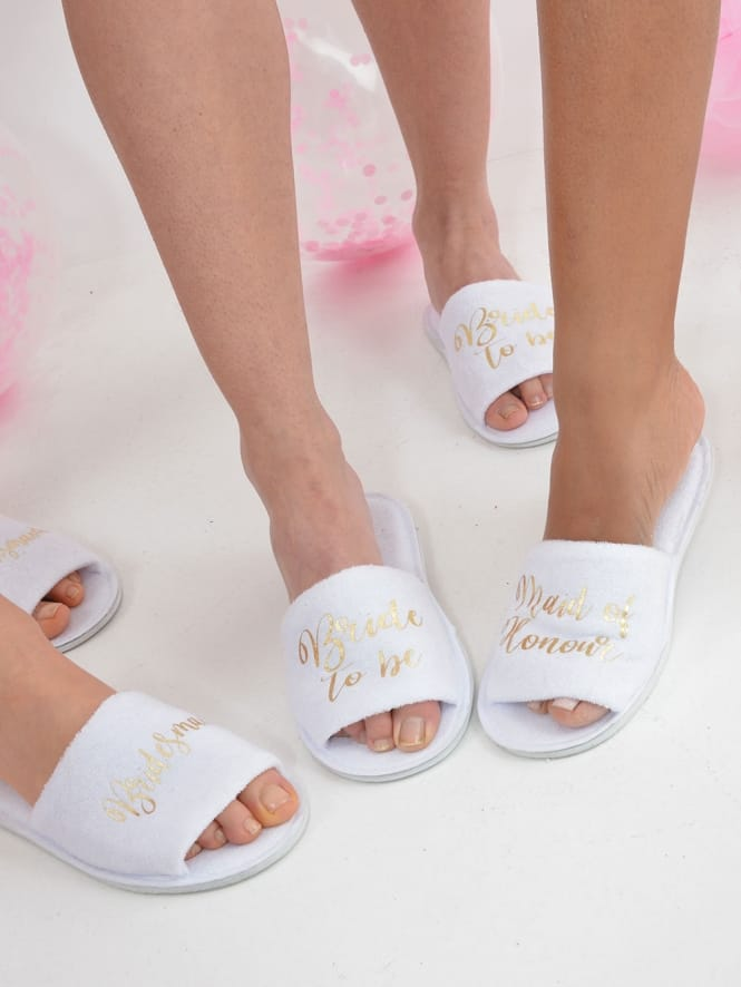 684fea55e0 Hen Party Superstore Personalised Bridal Party Spa Slippers