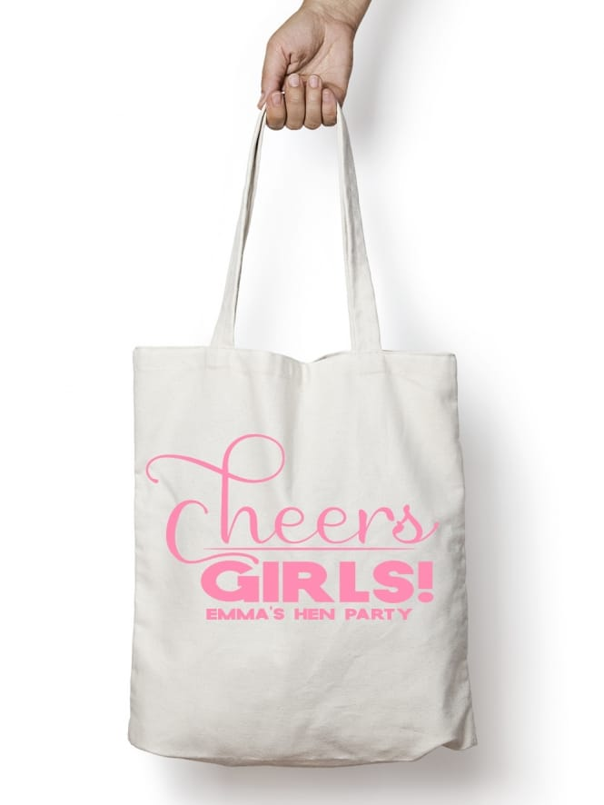 Hen Party Superstore Cheers Girls Personalised Hen Party Tote Bags