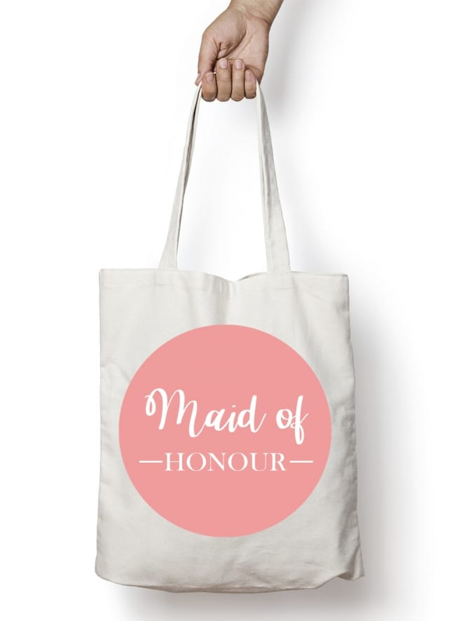 Hen Party Superstore Blush Pink Swirly Maid of Honour Hen Party Tote Bags