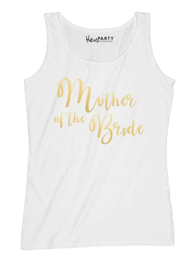 Hen Party Superstore Swirly Gold Mother Of The Bride T-Shirts