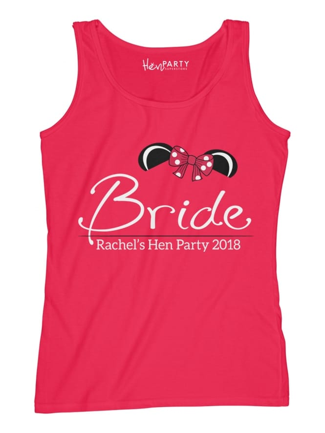 Hen Party Superstore Mouse Bride Personalised Vest Top Red